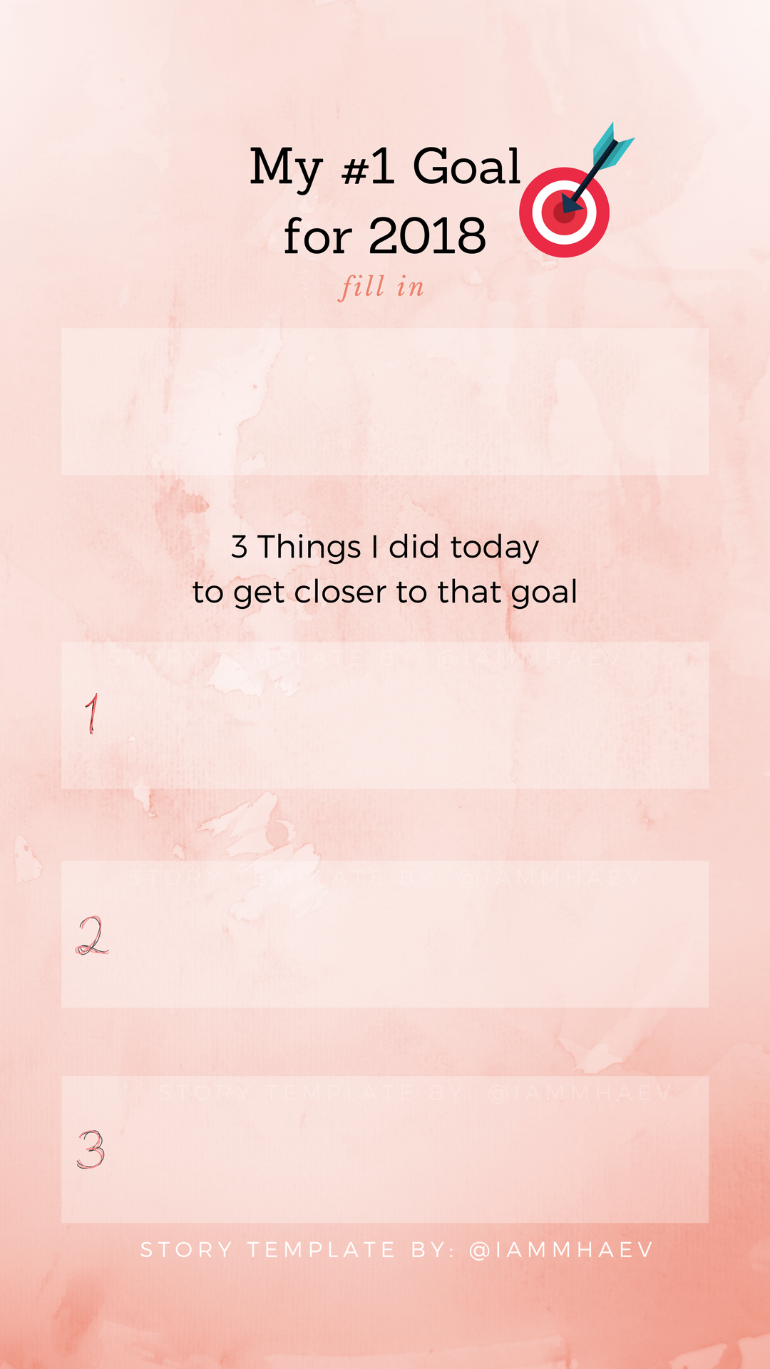 My 1 Goal For 2018 Instagram Story Templates Story Template Instagram Story Template Templates