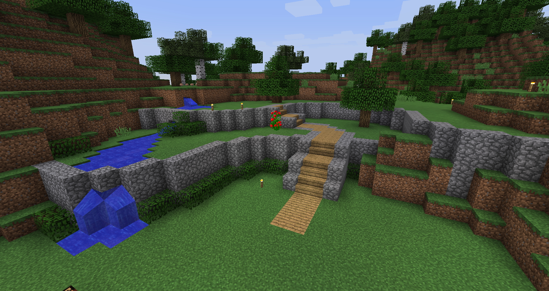 wonderful landscape garden terrace idea for minecraft