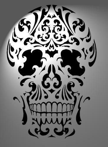 Stencil skull size a3 mylar 125 micron made on order for Pochoir jack daniels