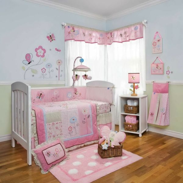 m rchenhaftes babyzimmer m dchen baby bettw sche set. Black Bedroom Furniture Sets. Home Design Ideas
