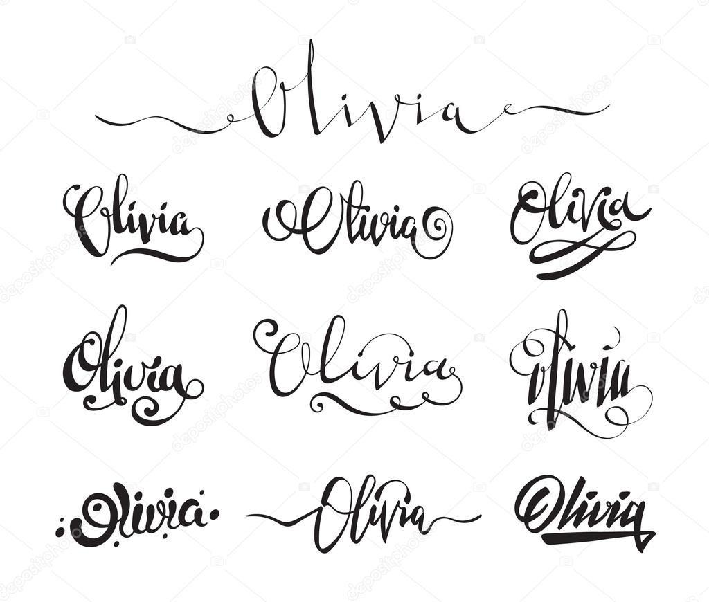 Resultado De Imagen Para Tattoos Of The Name Olivia Tatuajes De Nombres Tatuaje De Nombre Olivia Nombre