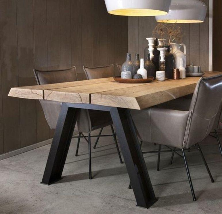 20 Best Modern Industrial Dining Furniture Set Design And Decorating Ideas Industrial Dining Furniture Dining Furniture Sets Wooden Dining Tables