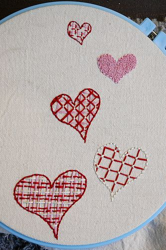 Valentine Valentines Day Pinterest Embroidery French Knots