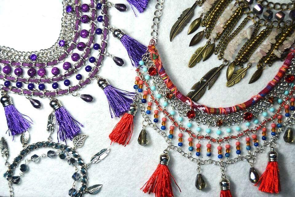Handmade statement necklaces