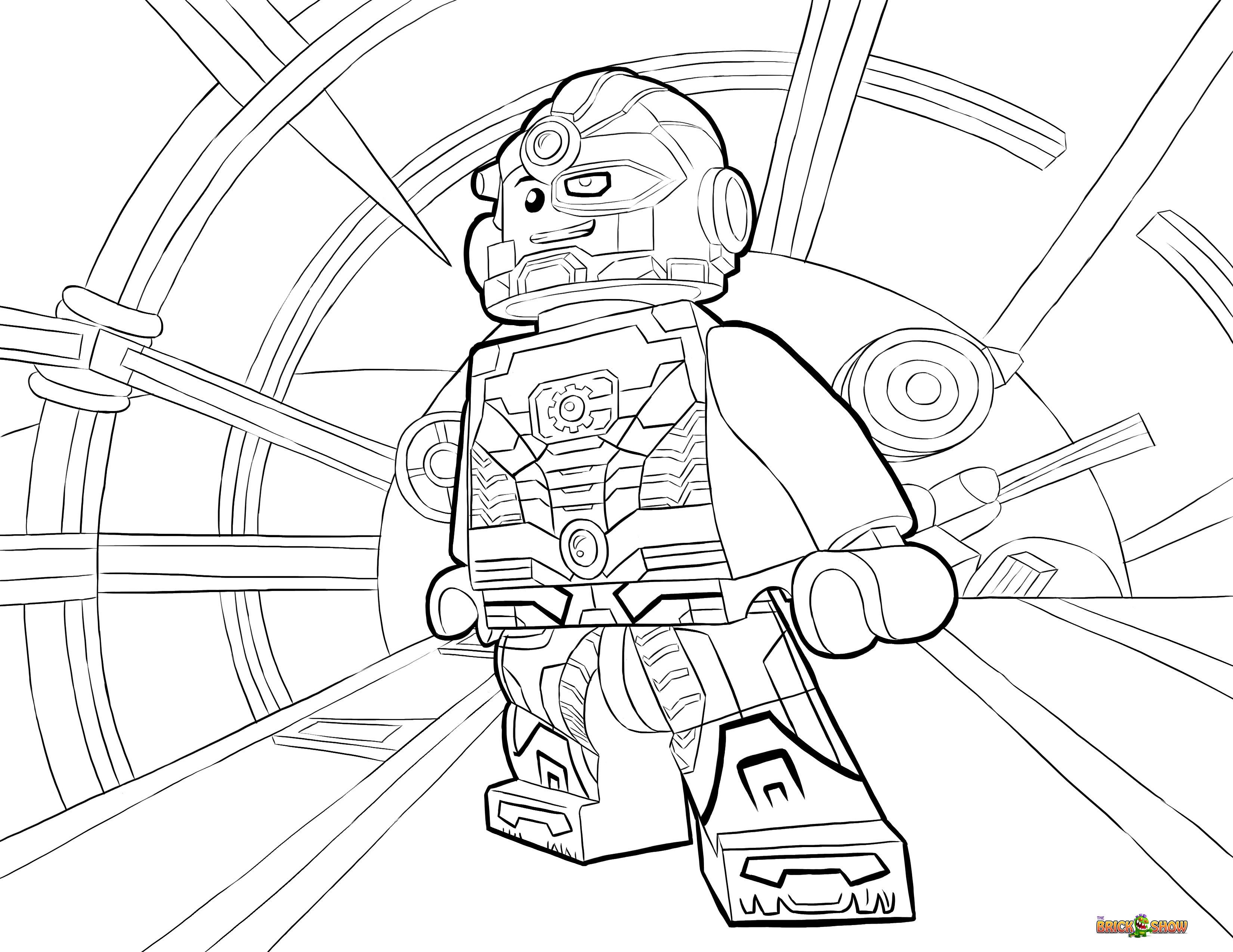Lego Cyborg Coloring Pages By Becky