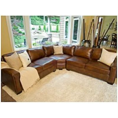 Carlyle Top Grain Leather Sectional In Rustic By Elements Fine