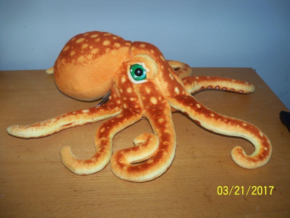 Fiesta Plush Octopus Ocean Marine Stuffed Animal With Big