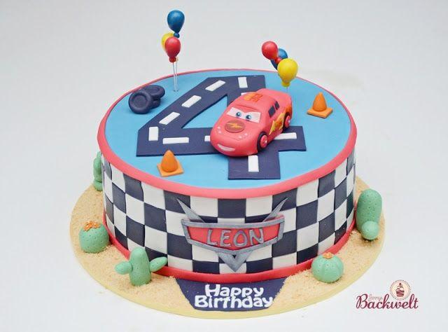 Eine Cars Torte Zum 4 Geburtstag Mcqueen Torte Pinterest Auto