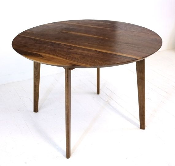 Round Dining Table Mid Century Modern Dining Table Solid Walnut