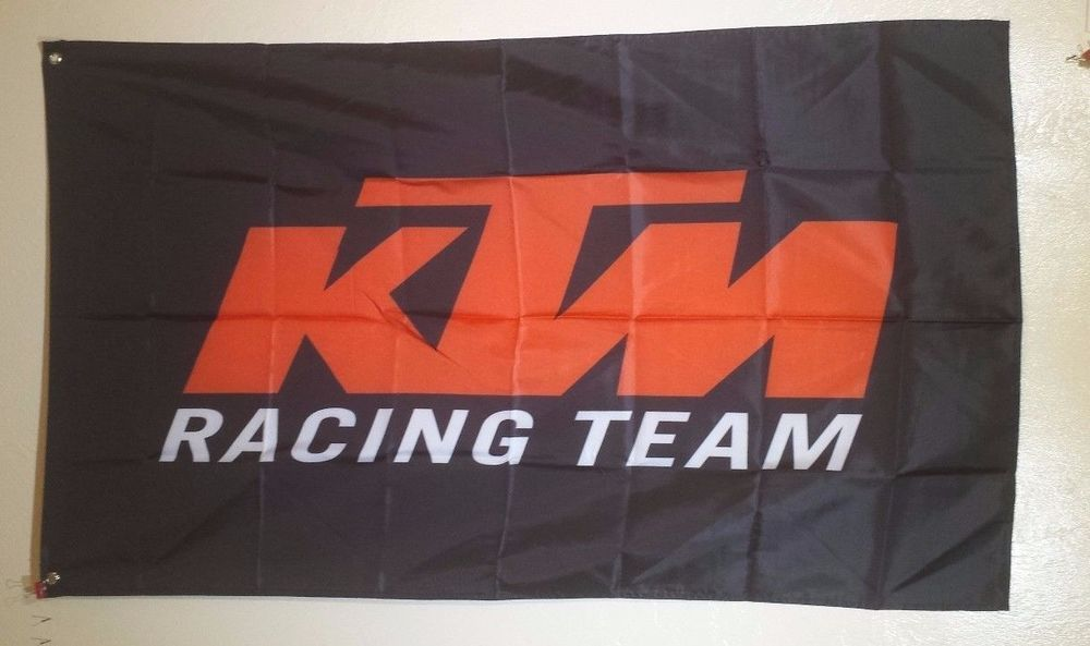 KTM Racing Flag 3x5 Banner Man Cave Garage Motorcycle Accessories Motorcycle Stickers, Emblems & Flags