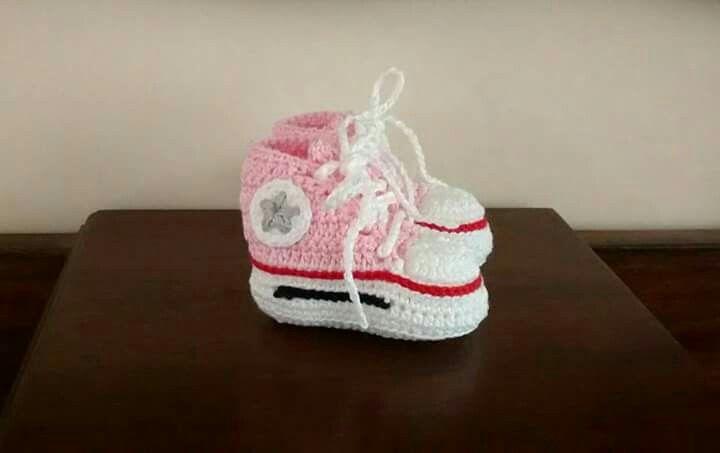 All Star em crochê de linha 100% algodão
