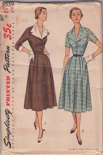 MOMSPatterns Vintage Sewing Patterns - Simplicity 3539 Vintage 50\'s ...