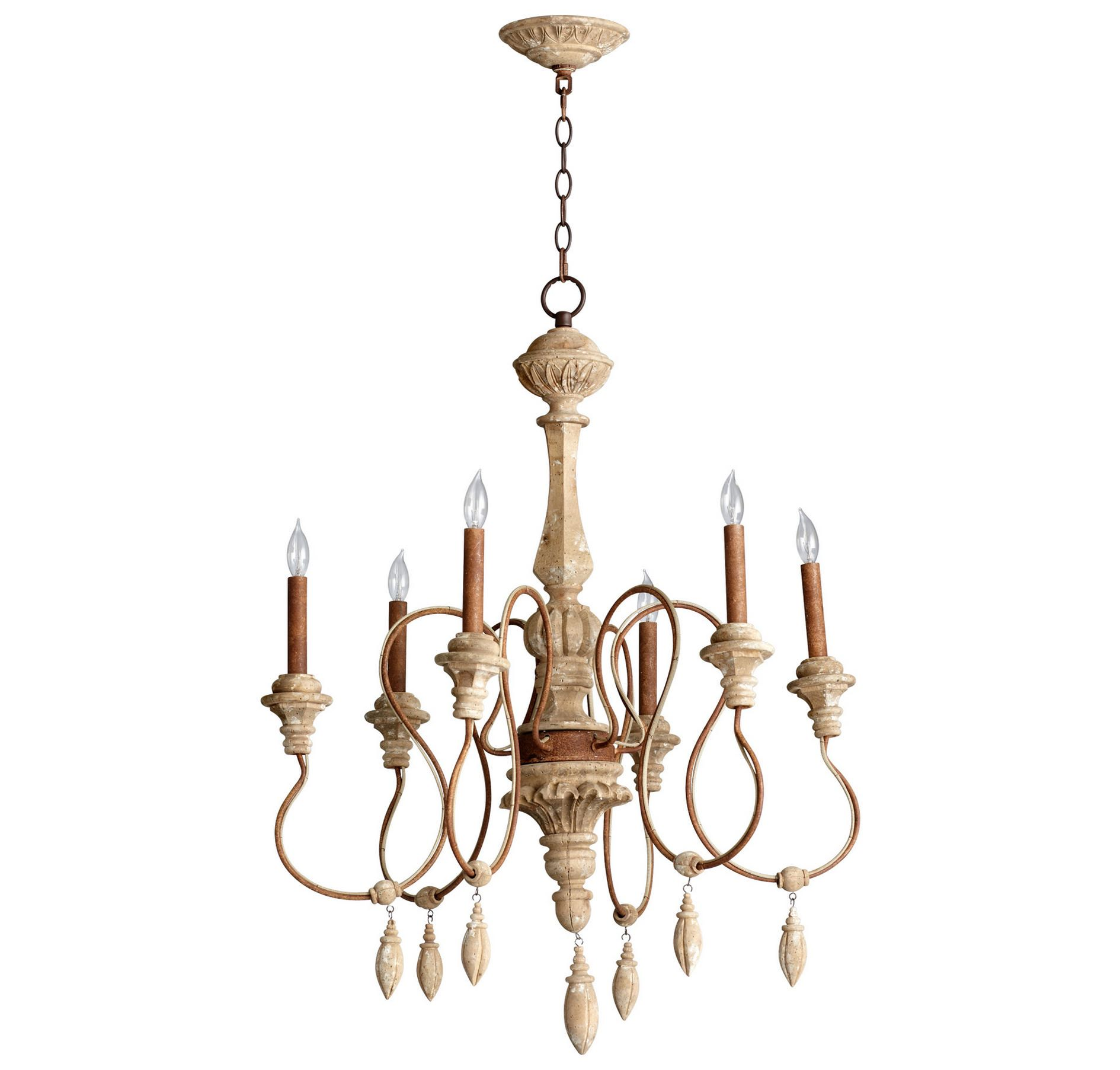 Cyan design 05176 choat 6 light chandelier in sutherland buff finish cyan design 05176 alda 6 light 1 tier chandelier with wood and wrought iron acce sutherland buff indoor lighting chandeliers arubaitofo Gallery