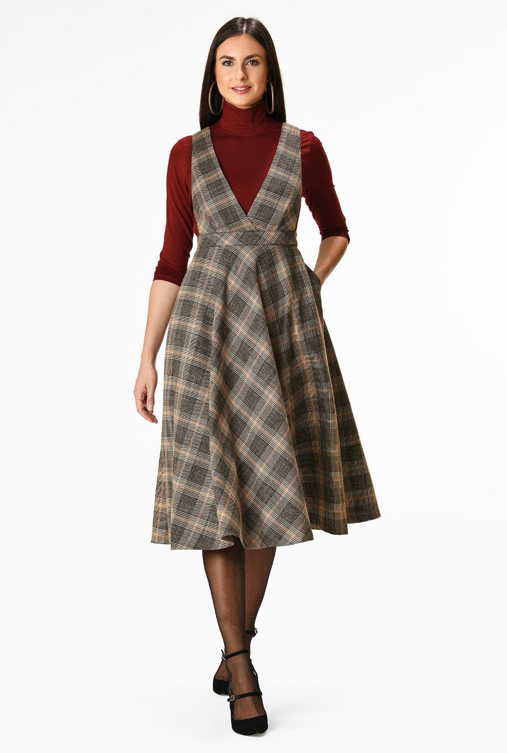 31+ Plaid jumper dress info
