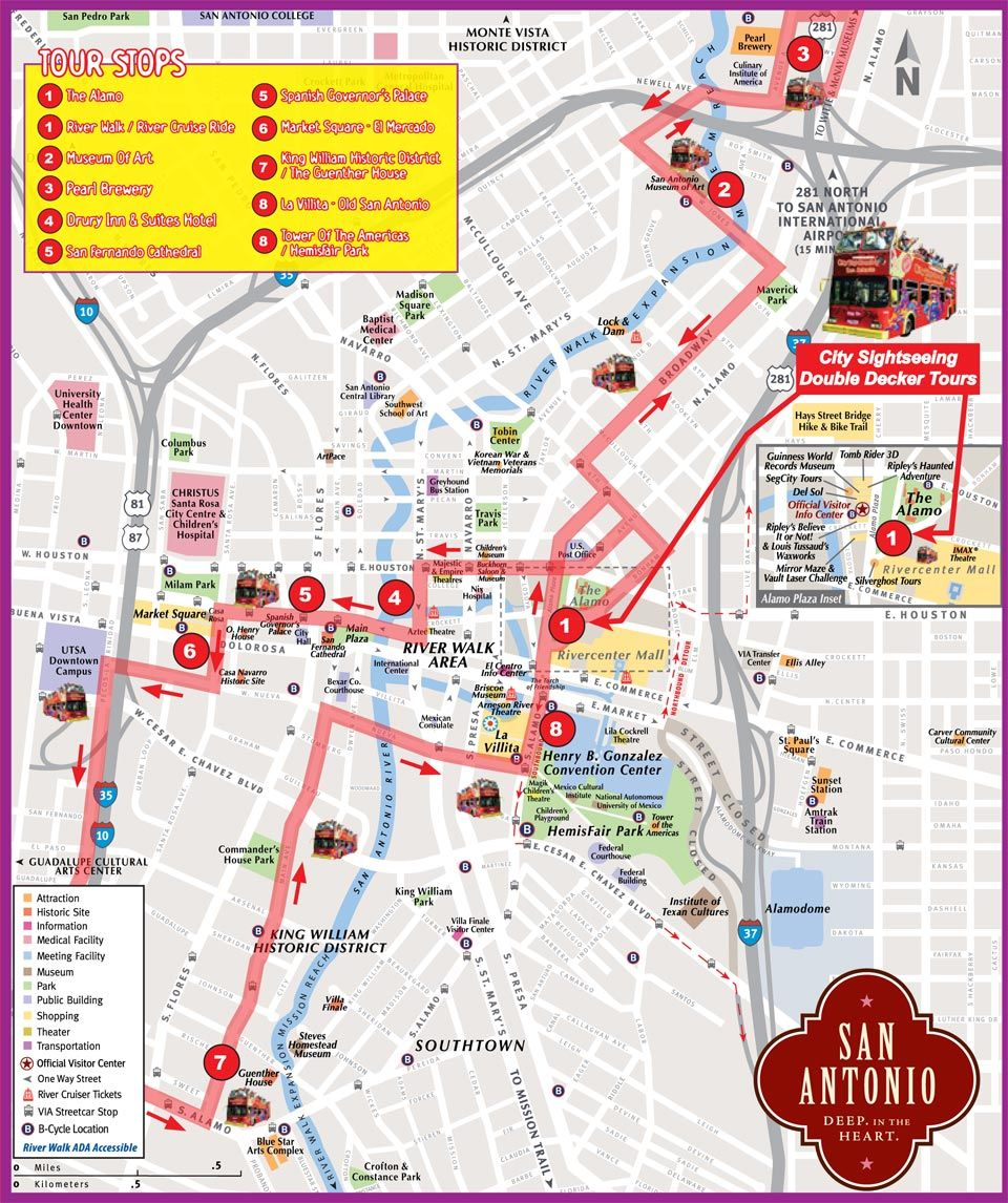 San Antonio Bus Tour and Map No passport required – San Antonio Tourist Attractions Map