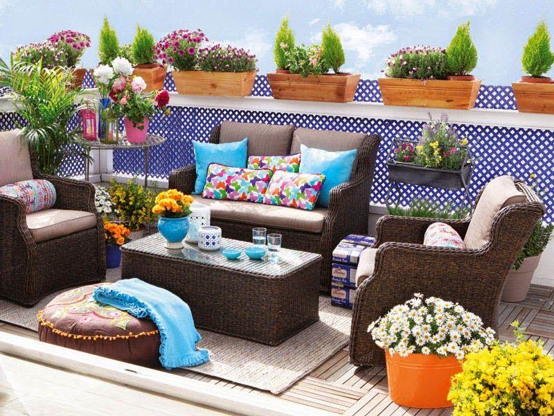 Decorar la terraza patios terrazas y balcones de ensue o for Muebles para balcones y terrazas