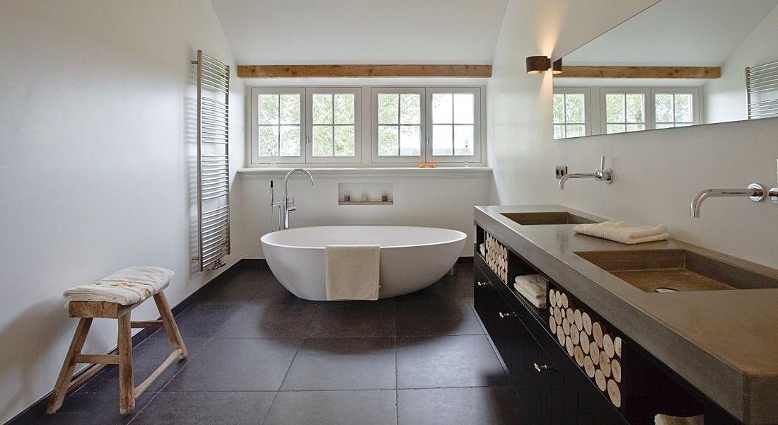 Kalkverf In Badkamer : Kalkverf voor de badkamer eigentijdse een landelijke badkamer 4