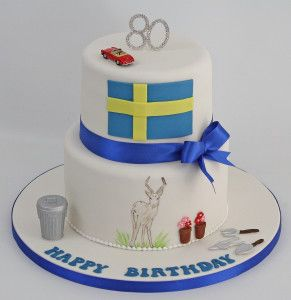 Antelope Birthday Cake. - http://pontycarlocakes.com/antelope-birthday-cake/ #80, #Antelope, #Birthdaycake, #Bling, #Cake, #Crystals, #Dustbin, #Gardening, #Handpainting, #Mercedes190Sl, #Pontycarlocakes