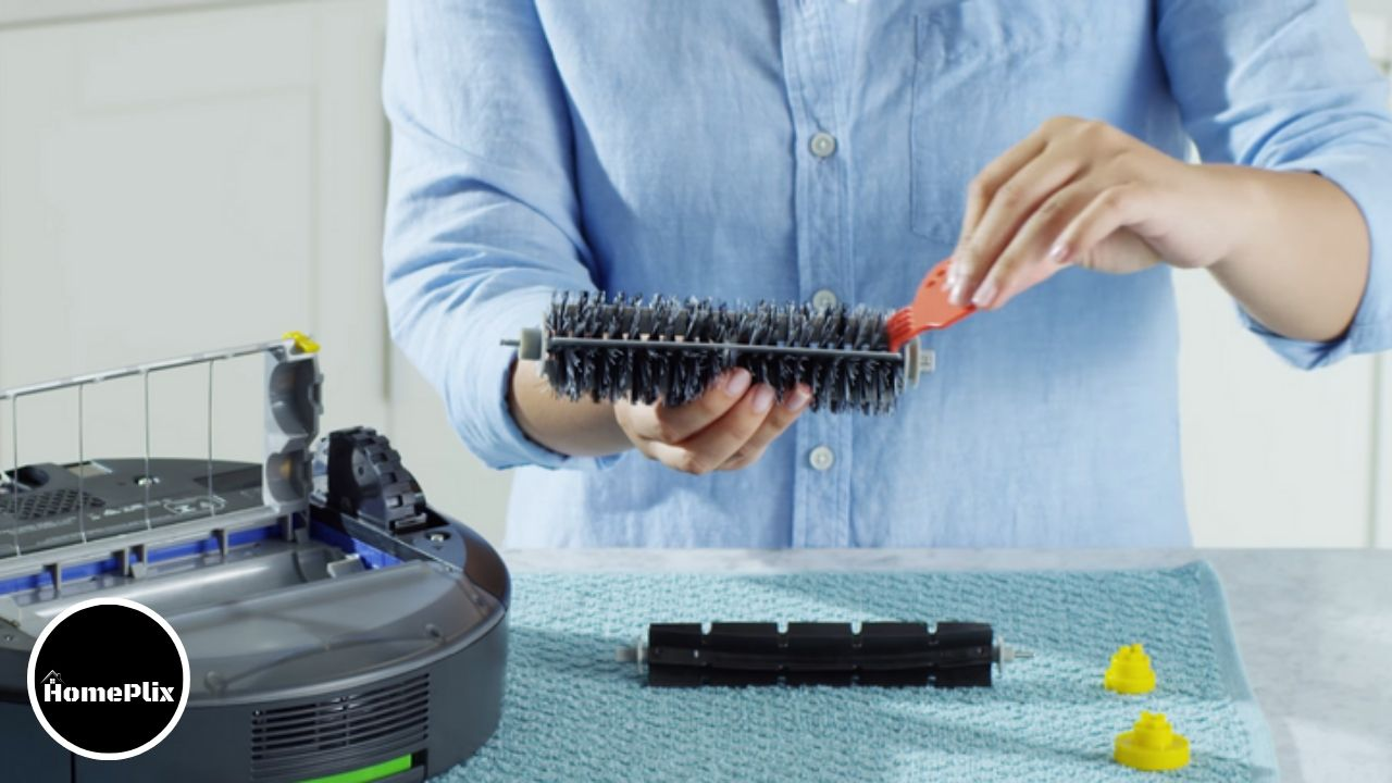"""Roomba Says, """"Please Remove and Clean Roomba's Brushes"""" #homeplix"""