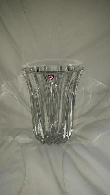 Orrefors Sweden Crystal Vase T4368 221 With Tag Stunning Items