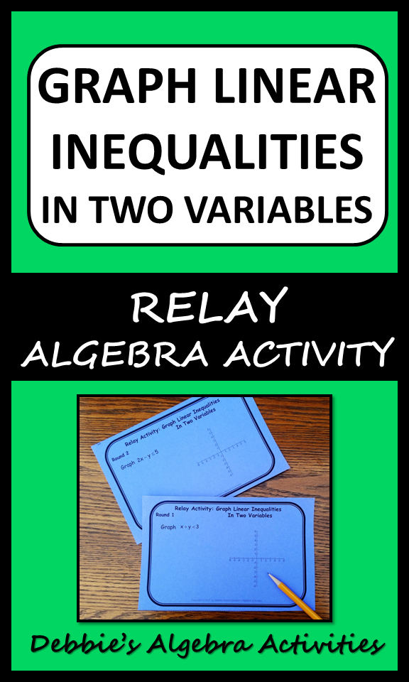 Graph Linear Inequalities in Two Variables Relay Activity | Algebra ...