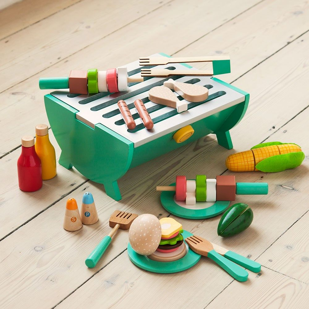 Wooden Play BBQ | JoJo Maman Bebe : wooden toy plates - pezcame.com