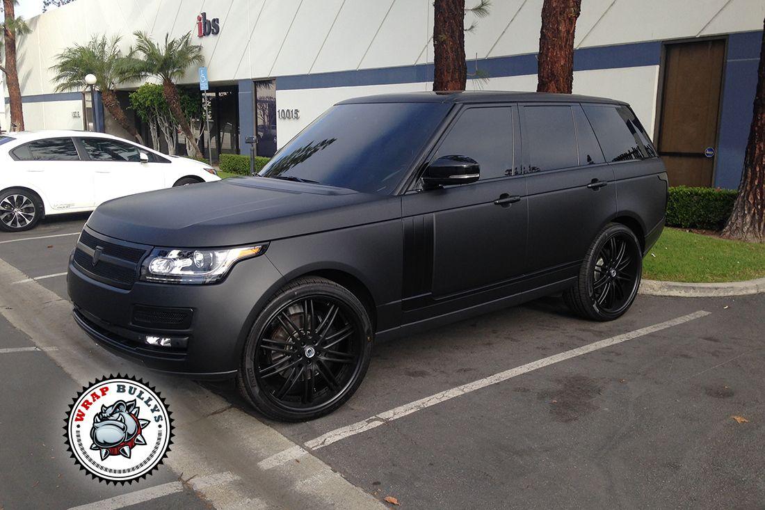 Matte Black Car Wrap >> Range Rover Wrapped In 3m Deep Matte Black Car Wrap Matte