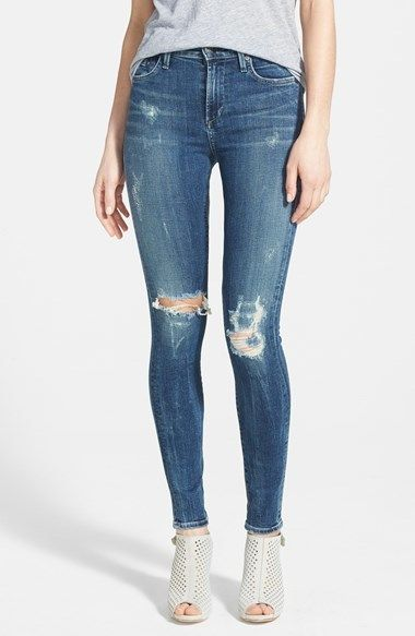 71f3e32f1ef410 Citizens of Humanity 'Rocket' Destroyed High Rise Skinny Jeans (Indie) on  shopstyle.com