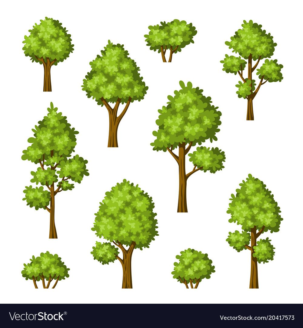 Image Result For Cartoon Bushes And Trees And Fence Vector