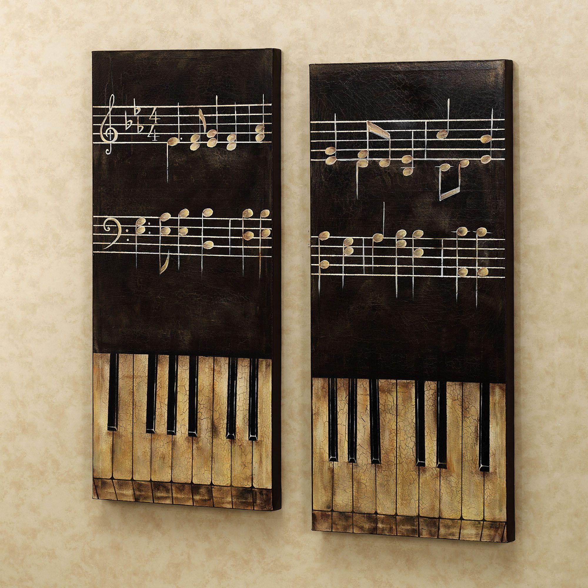 Key Wall Art piano key wall art | home piano keys i canvas art set of two