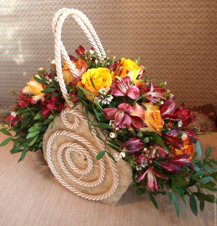 что участь букеты цветов фото в декоративных сумках теме