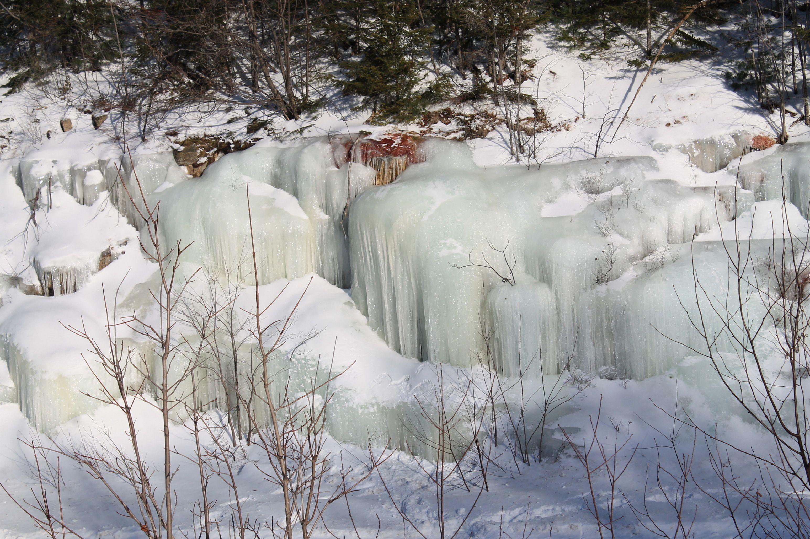 frozen walls of ice