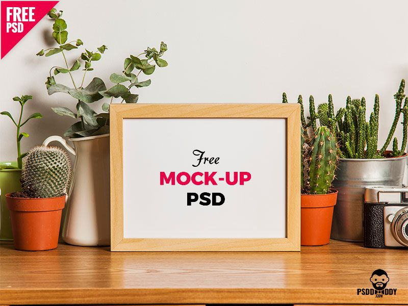 Table Photo Frame Free Mockup Psd Frame Mockup Free Free Photo Frames Wood Photo Frame
