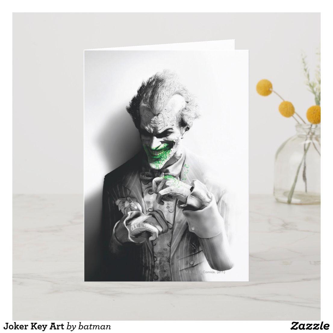 joker key art card  zazzle  card art keys art art