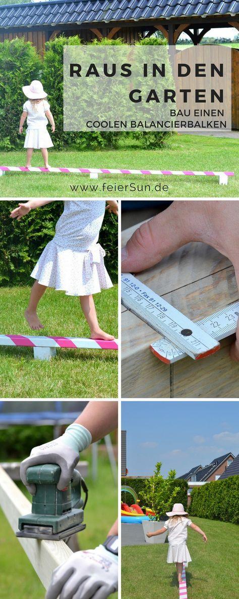 kleine ballerina einen balancierbalken bauen garten. Black Bedroom Furniture Sets. Home Design Ideas