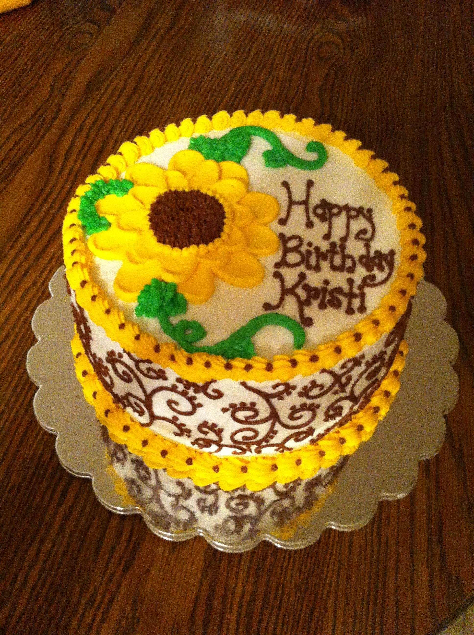 Sunflower Birthday Cake Cakes By Meridyth Pinterest Sunflower