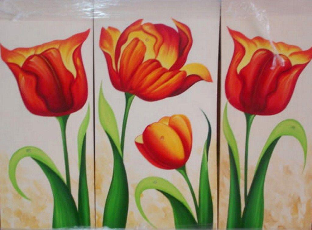 cuadros modernos pinturas bodegones de flores pintados al leo