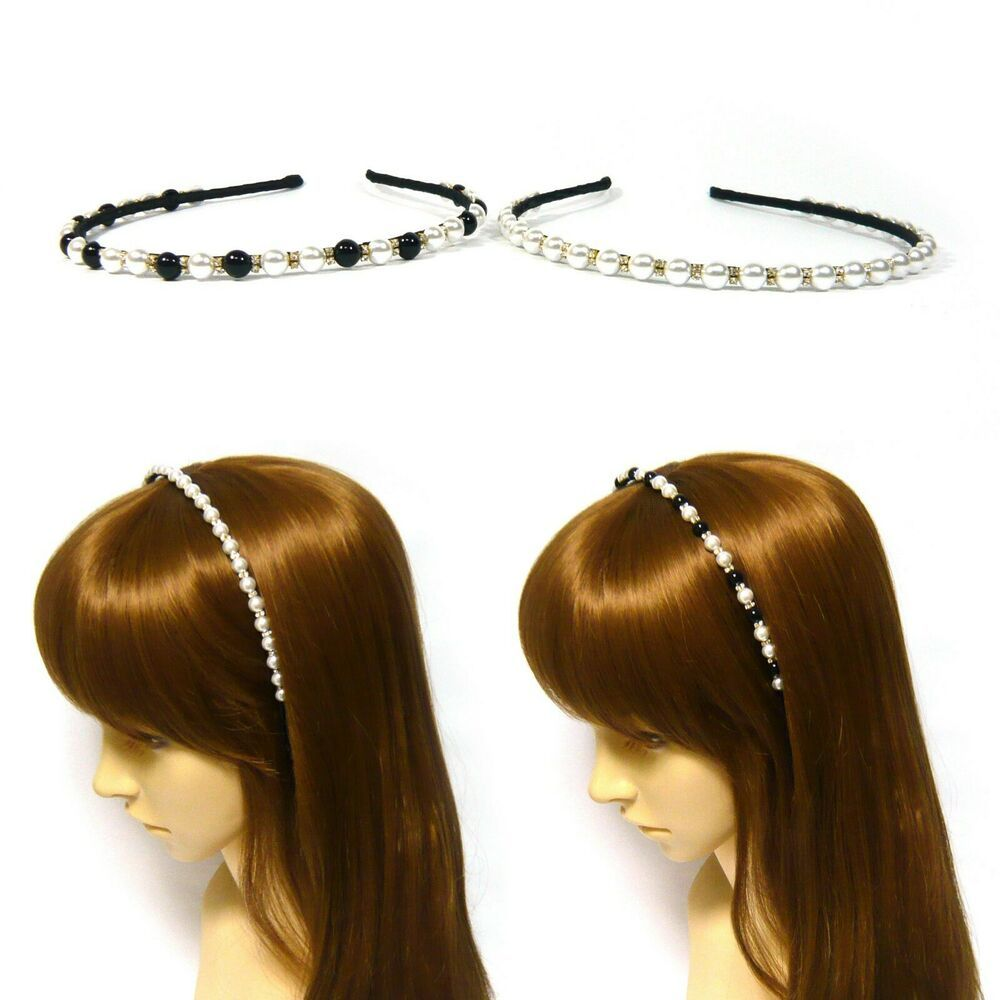Narrow Ribbon Covered Metal Alice Hair Band Headband Flower Girl Accessories