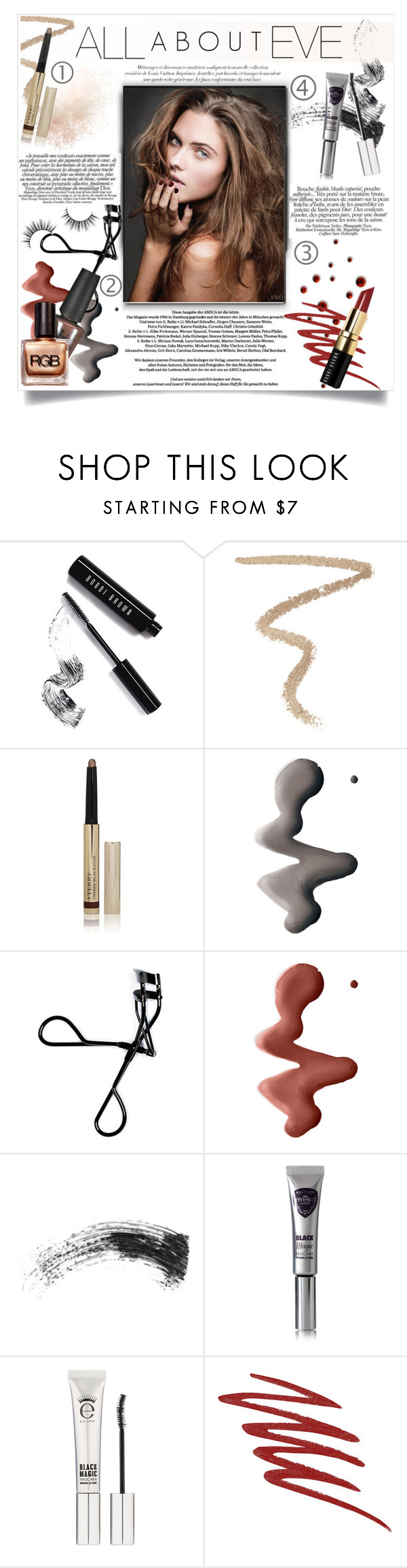 """""""NYE makeup"""" by hafsahshead ❤ liked on Polyvore featuring beauty, Bobbi Brown Cosmetics, By Terry, Topshop, Eyeko and NARS Cosmetics"""