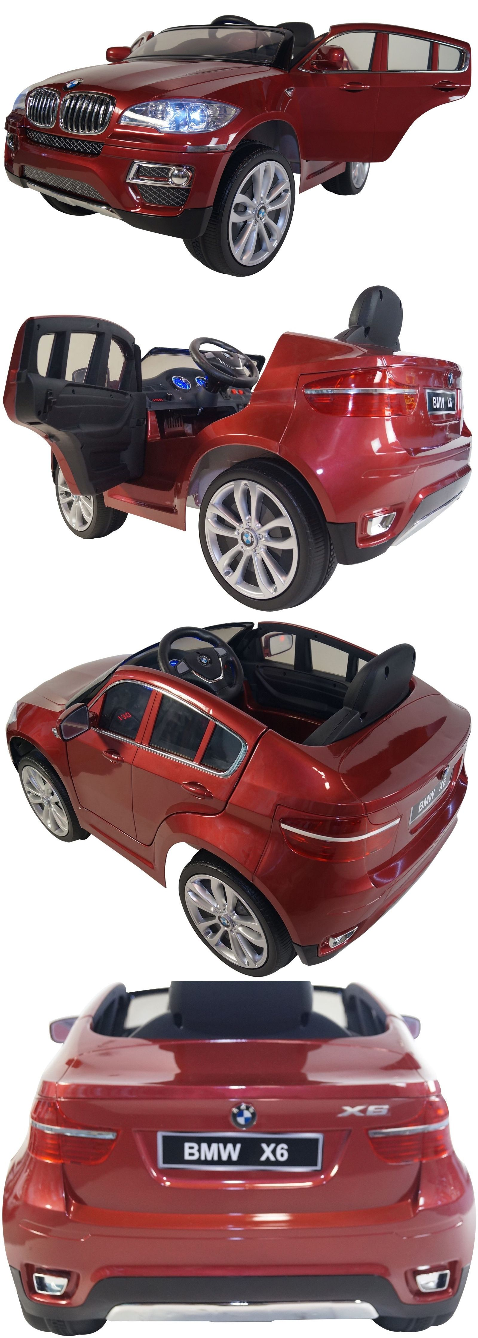 Toy Vehicles 145946: Bmw X6 Style 12V Battery Powered Electric Ride On Kids Toy Car Remote Rc Red -> BUY IT NOW ONLY: $389 on eBay!