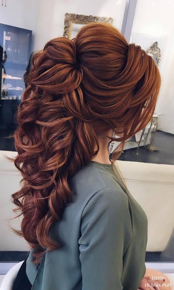 80 superbes coiffures de mariage pour cheveux longs – Nactumu France #homecominghairstyles