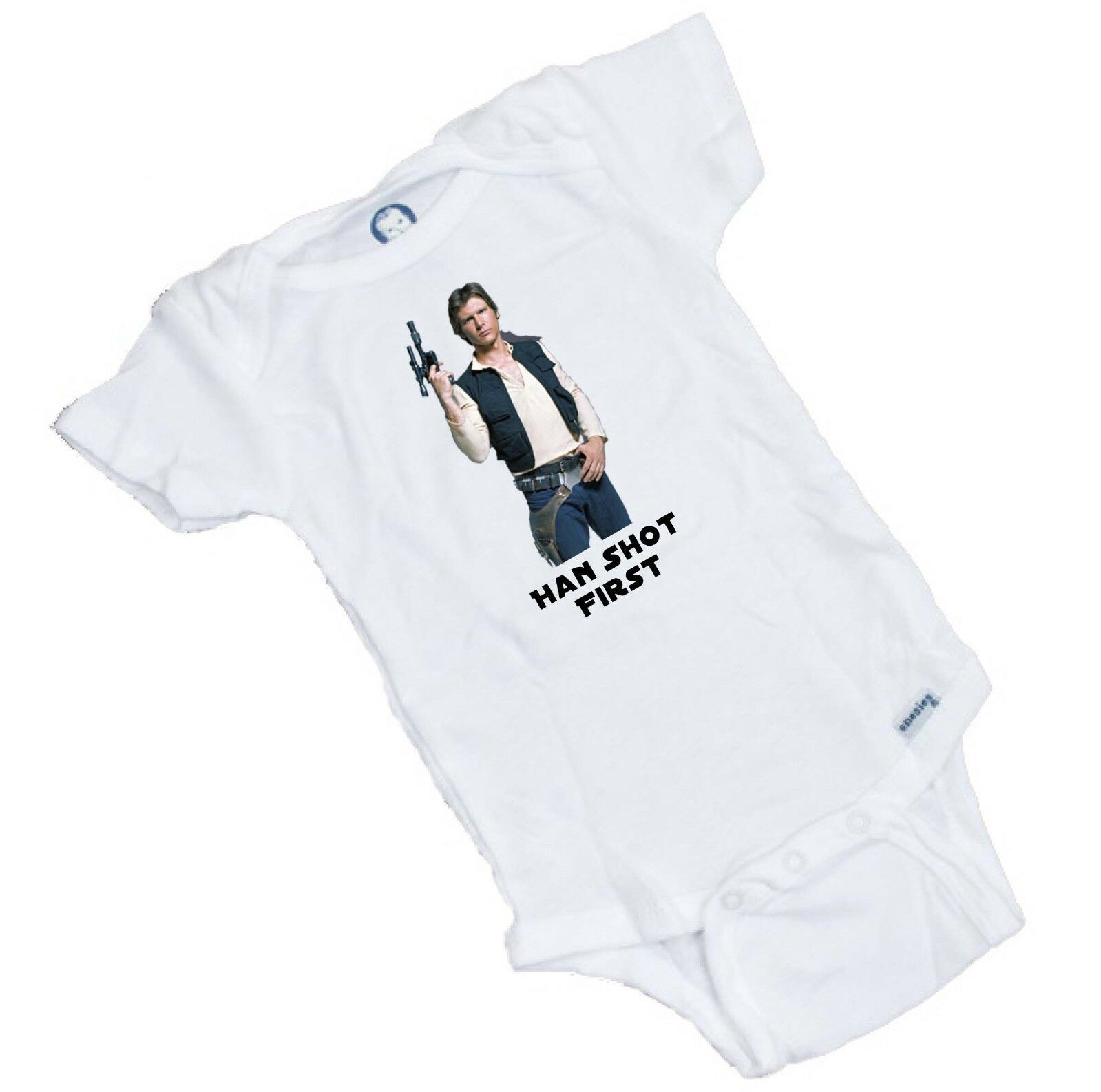 Bodysuit or Tee Shirt   BABY SHOWER GIFT Han Shot First Star Wars Funny Onesie