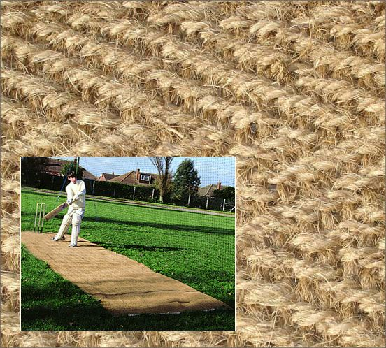 Coconut Cricket Fibre Matting Ideal For Playing Onto Grass Or Sand Surfaces To Form A Stable Surface For Outdoor Cricket Use Traditional Turf Outdoor Matting