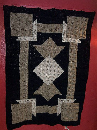 Free Pattern For Art Deco Crochet Quilt Crochet Quilt Crochet Quilt Pattern Crochet Art