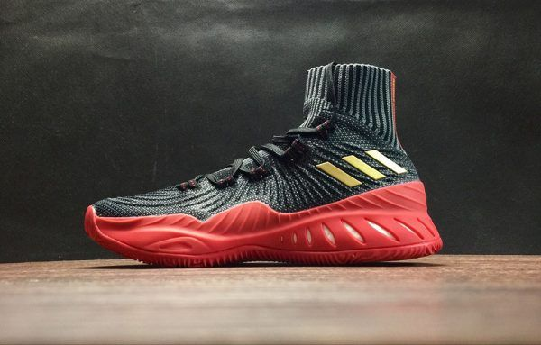 the best attitude b3a76 afbd1 adidas Crazy Explosive 2017 Primeknit Black Gold Red New Release