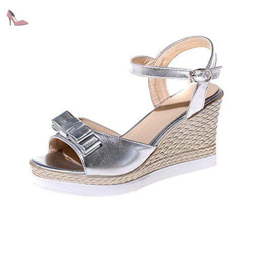 RUGAI-UE Les femmes d'été l'été chaussures en cuir Sandales,vert 36