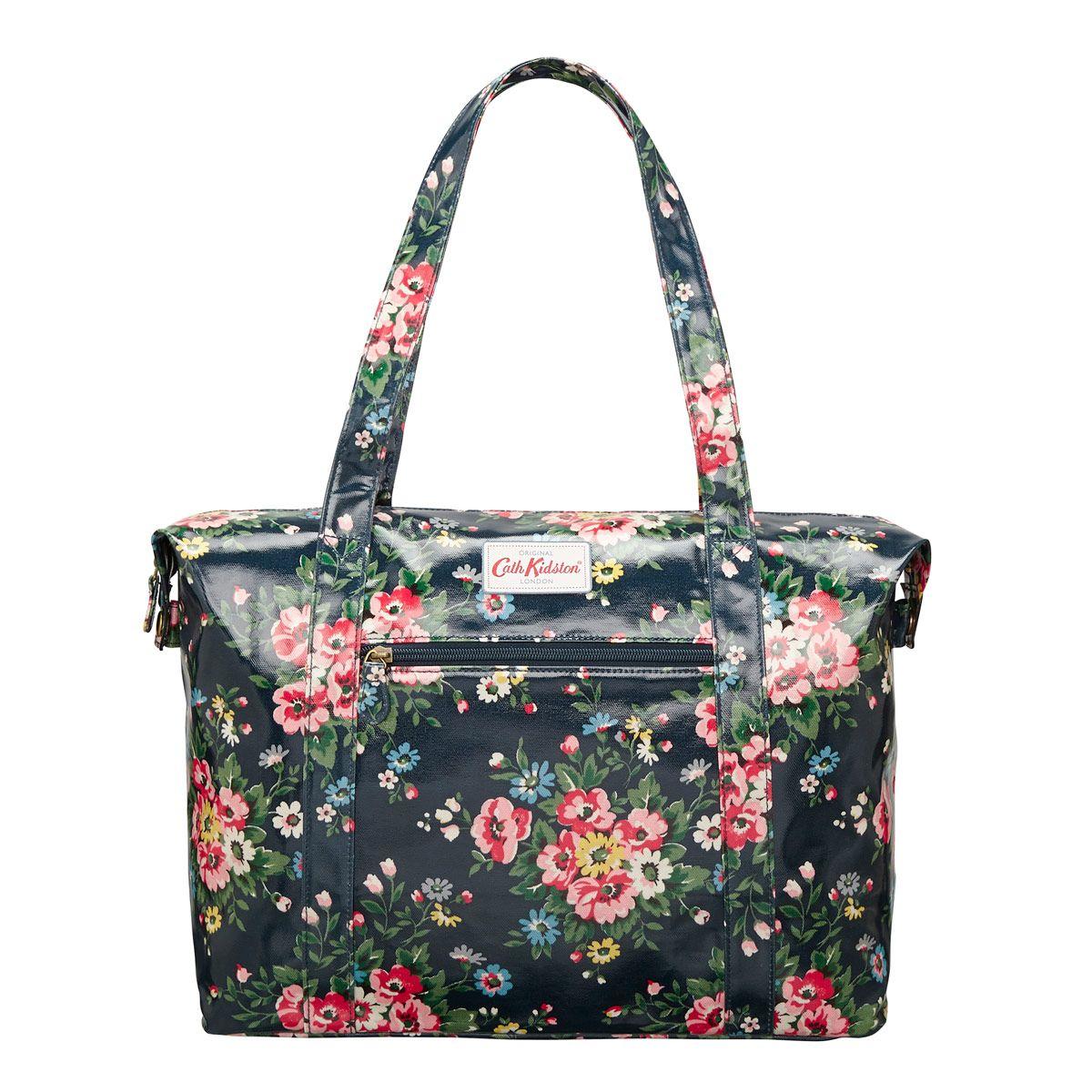 Folk Flowers Large Zipped Shoulder Bag Bags Cathkidston