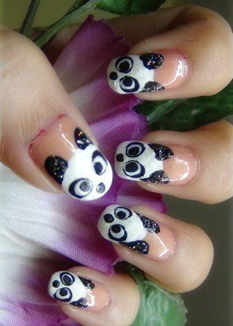 How To Do Nail Art At Home Pinterest Panda Nail Art Art