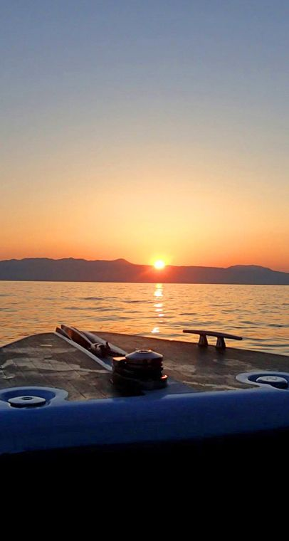Sunset somewhere in Cretan sea