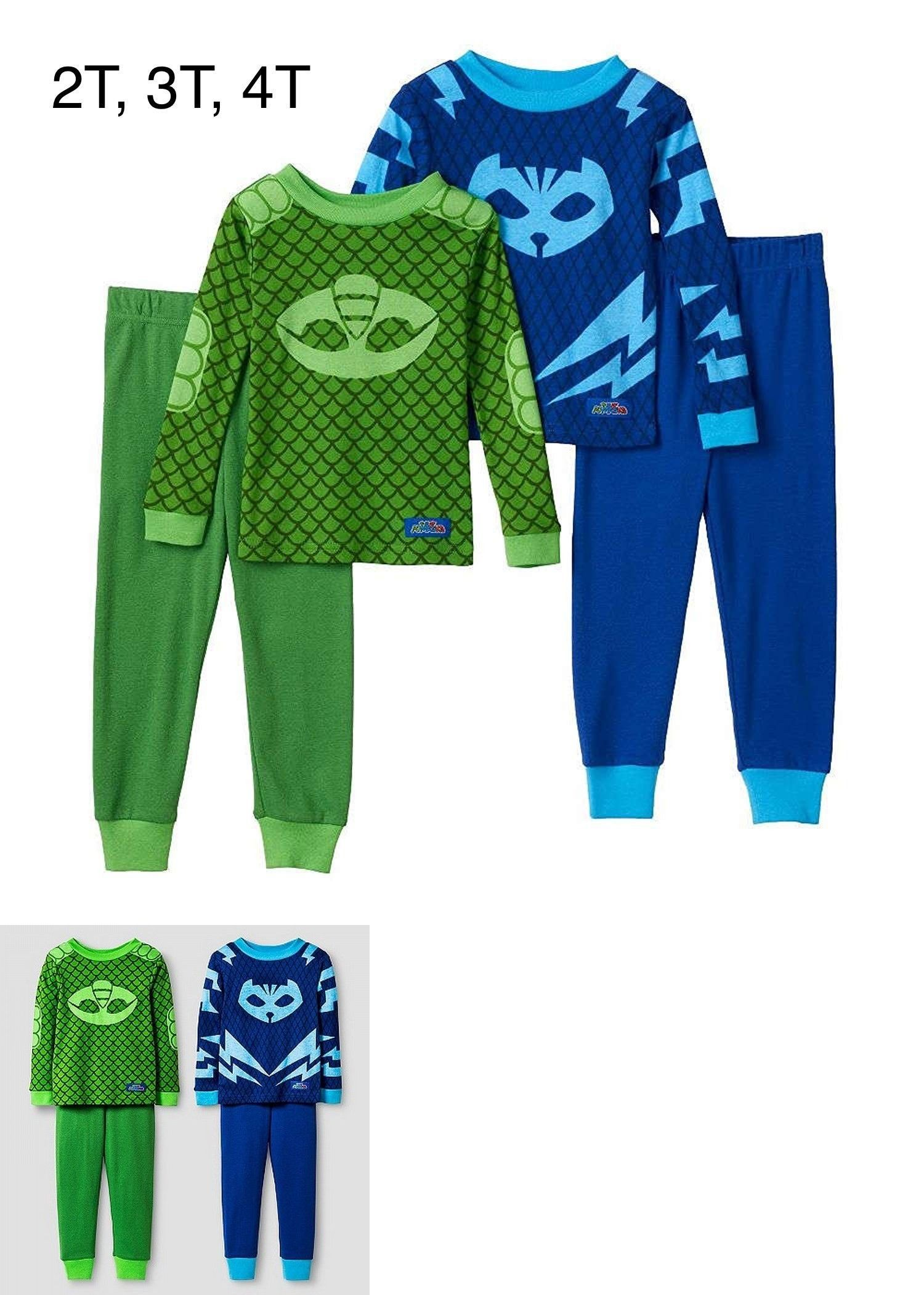 d9fd65da83 Sleepwear 147336  Pj Masks Pajama Set  Toddler Boys Gekko And Catboy 4 Pc  Set Green And Blue -  BUY IT NOW ONLY   31.99 on  eBay  sleepwear  masks   pajama ...